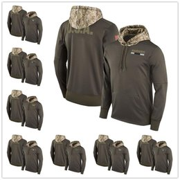Wholesale Service Camps - Men's New York Oakland Philadelphia Pittsburgh Tampa Seattle San Francisco Youth Women's Salute to Service Sideline Therma Pullover Hoodie