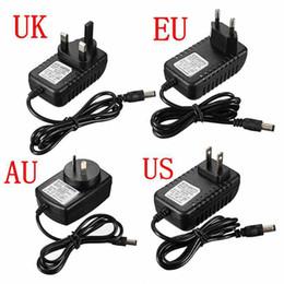 Wholesale 12v Professional Power Supply - High Qualty DC 12V 1A Power Supply Adaptor 12V Security professional Converter UK US AU EU Adapter