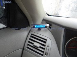 Wholesale Cars Times - Sport Car Blue Light LCD Portable Automotive Time Clock Thermometer Sensor Two-in-one LCD Display Clip Free Shipping M50964