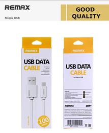 2019 câble de données d'origine samsung Câble Remax Micro USB d'origine pour Samsung Câble de données pour HTC Câble de charge pour LG avec emballage de vente au détail câble de données d'origine samsung pas cher
