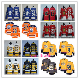 Wholesale Browns Jerseys - 2017-2018 Season popular 97 Connor McDavid 76 PK Subban 19 Jonathan Toews 87 Sidney Crosby 34 Auston Matthews 29 Marc-Andre Fleury Jerseys