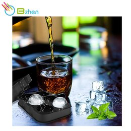 Wholesale Whiskey Tray - hot selling Bar Drink Whiskey Sphere Silica gel 6 Big Round Ball Ice Brick Cube Maker Tray Mold Mould On Sale Life wholesale
