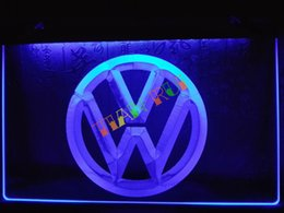 Wholesale Neon Light Sign Car - LG145-b Volkswagen VW Car Logo Services Neon Light Sign home decor shop crafts led sign.jpg