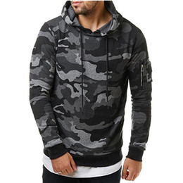 printed hoody for men Promo Codes - New Mens Hoodies and Sweatshirts Zipper Hooded Sweatshirts Male Clothing Fashion Military Hoody For Men Printed Hoodies 3XL