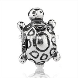 Wholesale 925 Silver Turtle - New! Wholesale Lovely Turtle Charms 925 Silver European Charms Beads for Snake Chain Bracelet Fashion Jewelry#027