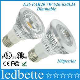 Wholesale Medium Base Led Light Bulbs - UL ETL Listed High Efficiency Medium Base E26 7W Dimmable PAR20 LED Lights Bulbs Spotlight 3000K Bright White 120VAC 100pcs lot