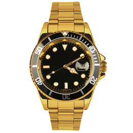 Wholesale Quartz Movt - top brand luxury stainless steel band No.1 men's brand business watches gold case men's sports Japan quartz movt fashion watches