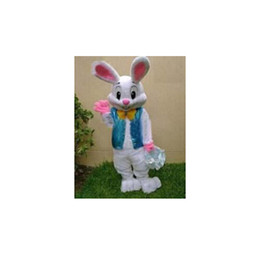 Wholesale Bunny Pink Costume - Hot selling blue and pink the Easter bunny Mascot Costumes free shipping