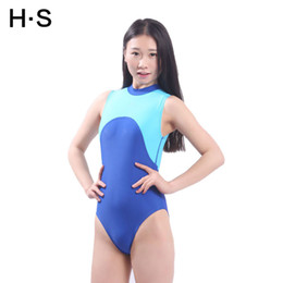 Wholesale Values Color - The new high - necked professional swimsuit women 's conjoined swimsuit triangular Siamese conservative swimsuit value explosion models