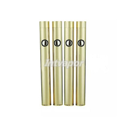 Wholesale Slim Batteries - Gold Slim vape battery button push 350mah battery for bud o pen cartridge 510 oil vaporizer cartridge e cig battery for vape pen