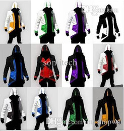 Wholesale Boys Costumes Assassins Creed - Wholesale-Halloween costumes for women Assurance 3 New Kenway Men's jacket anime cosplay clothes assassins creed costumes for boys kids