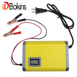 Wholesale Wholesale Motorcycle Batteries - Wholesale- Hot 12V 6A Motorcycle Car Battery Charger US Europe plug Potable 110V-220V Car Battery Power Charger 12V 6A With LCD Display