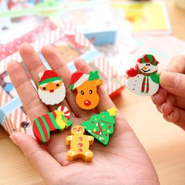 Fiestas de los niños del regalo online-Eraser Erasers For Kids Mini Eraser Erasers Papelería Eraer Rubber Kid Boy Party Regalo de Navidad Birthday School Prize Bag Filleri Stationer