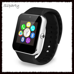 Wholesale Mini I Phones - GT08 Smart Watch Bluetooth Watches SIM Mini Phone Anti-lost for IOS i Phone 6s 7 8 Plus X Android Phones VS DZ09 Q18