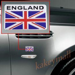Wholesale Vehicle Trim - Universal Chrome Aluminum Vehicle Car Decorate Decal Sticker UK Britain Nation Flag Logo Badge Emblem Trim Accessories