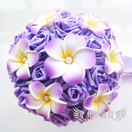Wholesale Hand Made Bouquets - Colorful Hand Made Flowers Ball With Eggs Floral Bride Bouquets Gradually Varied Bridesmaid Flower Hold
