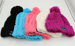 Wholesale Mp3 Skull Music - New Arrival Bluetooth Beanie Music Hat Cap Knitted Winter Magic Hands-free MP3 Hat for Woman Men Smartphones 20pcs Free Shipping