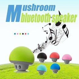 Wholesale Bluetooth Mushroom - Mini Mushroom bluetooth speaker Suction Cup Handfree Wireless cellphone Holder for iphone 6 6s samsung s6 Minion For iphone 5s for samsung
