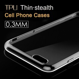 Wholesale Wholesale Crystals For Phone Cases - Cell Phone Cases For iPhone 7 Plus 6 6S and Samsung S5 S6 Ultra Thin Crystal Transparent Soft TPU Silicone Cover+Retail box