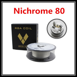 Wholesale 26 Gauge Nichrome Wire - Vapor Tech Nichrome 80 Wire Heating Resistance Coil Wick 30 Feet Spool 22 24 26 28 30 32AWG Gauge for DIY RDA Atomizers