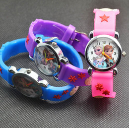 Wholesale Cartoon Wrist Watches - 3D Cartoon Candy watch Lovely Kids Girls Boys Children Students Quartz Wrist Watch Frozen Spideman Car Princess watches