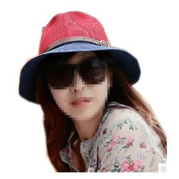 Wholesale Ce Hat - Wholesale-Sun Hat Straw Beach Headwear Cap Bohemia Wide Large Brim Factory direct female Korean Fashionable large brimmed straw sun hat ce