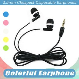Wholesale Gym Headphones Wholesale - Hot Cheapest Disposable Earphones Headphone Headset For Bus Or Train Or Plane One Time Use Low Cost Earbuds For School,Hotel,Gyms