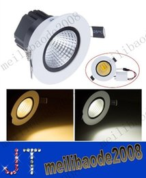 Wholesale Free Led Downlights - 12W 15W COB Recessed white led downlights ceiling light AC 85-265V Warm white FREE SHIPPING MYY10097A