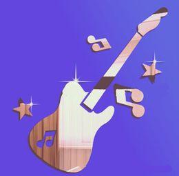 Livraison gratuite musique étoiles Guitare diy miroir Stickers muraux chambre de bébé 3d papier peint en cristal cadeau unique VENTE CHAUDE ? partir de fabricateur