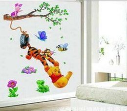 Wholesale Tigger Pooh Wall - Free Shipping Winnie the Pooh and Tigger children's room wall decorative wall stickers stickers