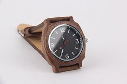 Wholesale Bamboo Band - Top Bamboo Wood Watches For Men And Women Fashion Quartz Wristwatches Leather Bands Strap Round Watch Customized LOGO