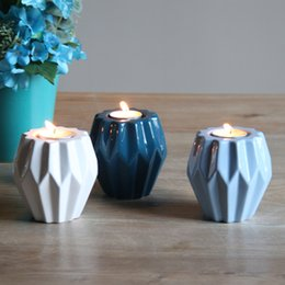 castiçais de pilar de vidro Desconto Castiçal de cerâmica casa decoração vela stand simple marca de design vara da vela
