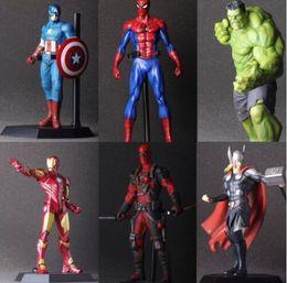 Wholesale Ironman Action Figures - The Avengers Hulk PVC Deadpool Iron Man Action Figure Thor Model Collection Toy Gift Captain America IronMan superhero Spiderman