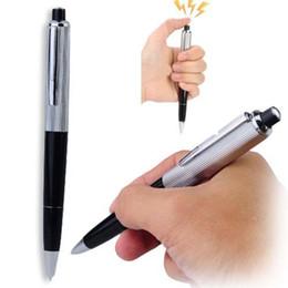 Wholesale Gadgets Pen - 2015 Electric Shock Pen Toy Utility Gadget Gag Joke Funny Prank Trick Novelty Friend's Best Gift