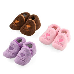 Wholesale Pink Newborn Booties - Wholesale-Free Shipping Baby Girl Boy Unisex Coral Fleece Booties Shoes Slippers Newborn Toddler 0-12M New Hot