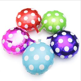 Wholesale Party Supplies Polka - Polka Dot Color Balloon 18'' Candy Color Foil Balloon Happy New Year Festive Gift for Sale SD468