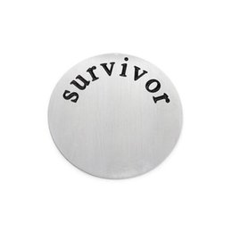 Wholesale Survivor Charms Wholesale - Survivor Back plate for Large Floating Locket - Glass Locket Plate- Cancer Military - Strength and Courage