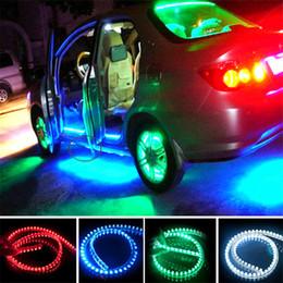 Wholesale Strip Led 96 - LED Car Strip Light Car Light Bar Lamp Flexible LED Strips Waterproof PVC Light Strip DC12V LED Strip 24 48 72 96 120cm