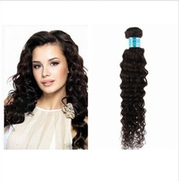 Wholesale Blonde Deep Wave Remy Extensions - 50% off malaysian virgin hair bundles 7A grade remy human hair extensions deep wave natural color no shedding no tangle
