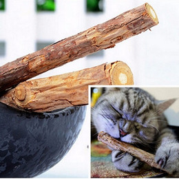 Wholesale Cat Teeth Health - Cat Toys Catnip Silvervine teeth Sticks Cats Dental Health Sticks Pets Catnip Products cats snacks cats favor wen4580