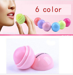 Wholesale Lip Balm Sphere - New Makeup Round candy color Moisturizing lip balm Natural Plant Sphere lip gloss Lipstick Fruit Embellish lip balm