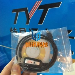 Wholesale Driver Software - Wholesale-Original TYT Brand New USB Programming Cable +2CD (Programming Software CD+ Driver Software CD) For TYT Car Radios TH-9800
