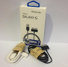 Wholesale Galaxy Tab Data Cable - 2015 hot USB Data Line Sync Charger Cable Adapter Cables with retail package for Samsung Galaxy Tab P1000 P7500 P6800 P6200 E066 N8000 DHL