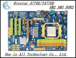 Wholesale Am3 Gaming - Wholesale-100 original Biostar A770E TA770E Motherboard AM2 AM3 DDR2 Desktop Mother board Gaming Canputer-TB0029 free shipping