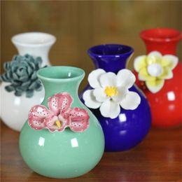 Wholesale Design Ceramic Vase - wholesale new design creative gifts fashion chinese porcelain vases carved for home wedding decoration marriage desk ceramic craft ornament