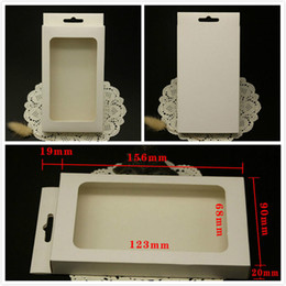 Boîte de papier blanc blanc de vente au détail pour iphone 6 6 s 5 s cas emballage boîtes sac avec fenêtre en PVC pour Samsung s3 s4 couverture rigide ? partir de fabricateur