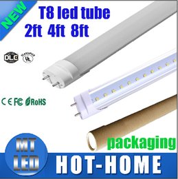 Wholesale Coolers Manufacturers - manufacturers sale LED T8 Tube 22W 4ft 2200LM SMD 2835 Light Lamp Bulb 4 feet 1.2m600mm 5ft 1.5m 8ft 2.4m 85-265V led lighting fluorescent