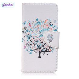 Wholesale Iphone Skin Tree - Fashion Flip Little Tree Covers Card Slot Holder Protection Skin With Magnet Buckle Case For iPhone 7 BQ Aquaris M4.5