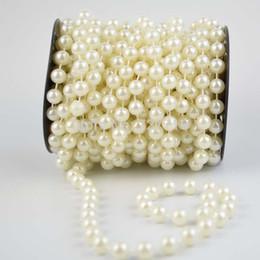 Canada 12mm perles de perle ivoire chaîne / guirlande pour accessoires de décoration de mariage 6Meter / roll - livraison gratuite supplier string rolls pearls Offre