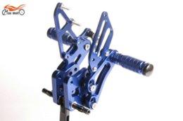 Wholesale Suzuki Footpegs - Rearsets CNC Adjustable Rear set Footpegs For SUZUKI K8 GSXR600 GSXR 600 GSX600R 2006-2010 BLUE 2007 2008 2009 M53316